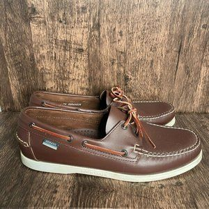 Sebago Docksides Brown Leather Casual Boat Shoes